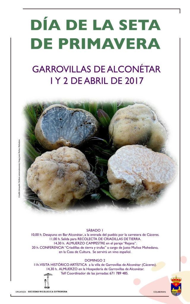 Cartel Garrovillas 2017 - Día de la seta de primavera