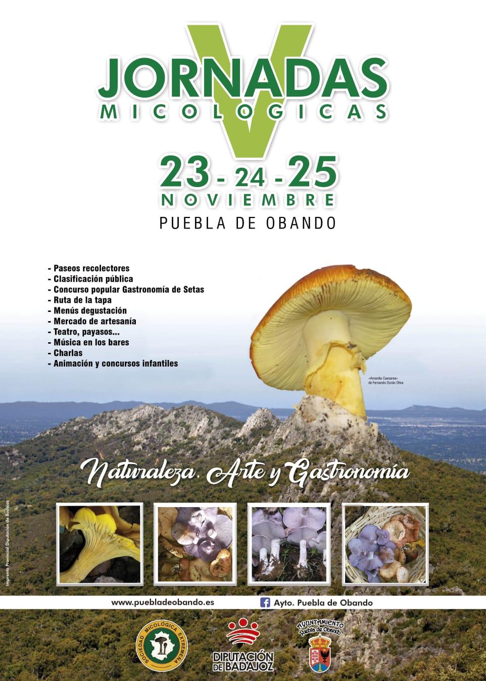 Jornadas Micológicas – Puebla de Obando 23, 24 y 25 de Noviembre