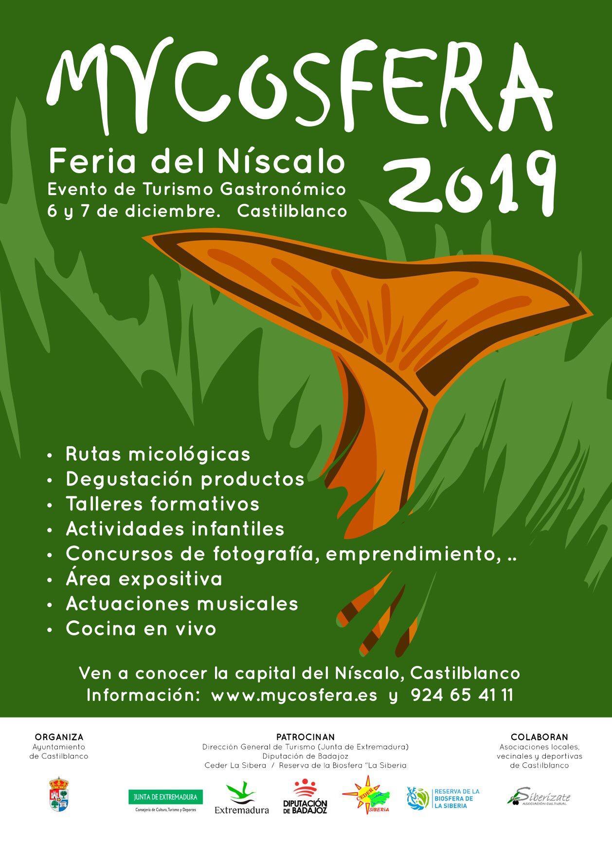 Micosfera 2019 – 6 y 7 Diciembre en Castilblanco.