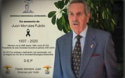 Ha fallecido nuestro socio y expresidente Juan Morales